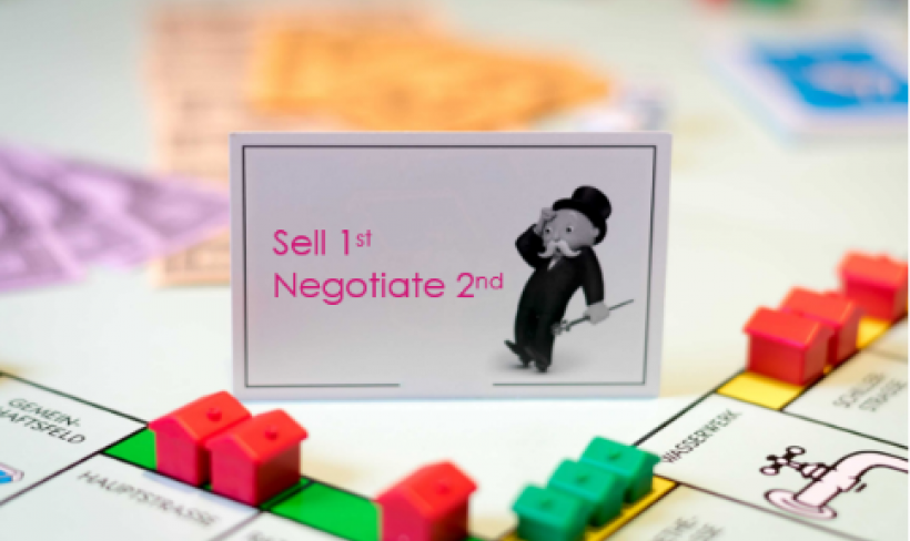 Do your team sell first and negotiate second?